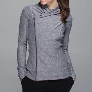 Lululemon Bhakti Yoga Heathered Gray Jacket 8